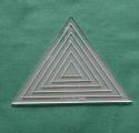 Acrylschablonenset Pretty & Useful 6-fach gleichseitiges Dreieck