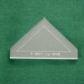 Acrylschablone Half Square Triangle, halbes Quadrat