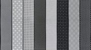 Jen Kingwell for Moda: Lollies Sweetie Movelty Stripe black/grey